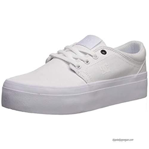 DC Womens Trase Platform Tx White White Black Shoes Size